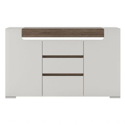 Toronto 2 Door 3 Drawer Sideboard (inc. Plexi Lighting).